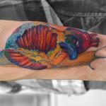 心臓カタツムリのタトゥー – Snail,Heart Tattoo