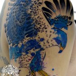 ハヤブサの水彩タトゥー Falcon Watercolor Tattoo,刺青・タトゥースタジオ 女性彫師 恵華-Keika-