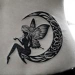 妖精と月のタトゥー Fairy Moon Tattoo,刺青・タトゥースタジオ 女性彫師 恵華-Keika-