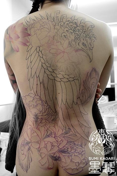 鳳凰の刺青 Phoenix Tattoo,刺青・タトゥースタジオ 女性彫師 恵華-Keika-