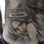 天使のお姉さんタトゥー,Angel,タトゥー,刺青,Tattoo,刺青,タトゥースタジオ,女性彫師,彫師,恵華,Keika