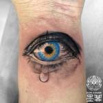目のタトゥー,Eye,タトゥー,刺青,Tattoo,刺青,タトゥースタジオ,女性彫師,彫師,恵華,Keika