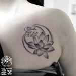 月と蓮のタトゥー,Moon,Lotus Tattoo,タトゥー,刺青,Tattoo,刺青,タトゥースタジオ,女性彫師,彫師,恵華,Keika