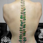 葉のタトゥー,Leaf,タトゥー,刺青,Tattoo,刺青,タトゥースタジオ,女性彫師,彫師,恵華,Keika