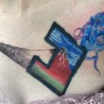 富士山とタコのタトゥー,Fuji,octopus,タトゥー,刺青,Tattoo,刺青,タトゥースタジオ,女性彫師,彫師,恵華,Keika