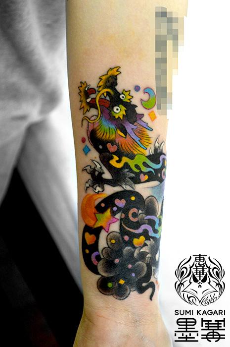龍でカバーアップのタトゥー,Dragon,タトゥー,刺青,Tattoo,刺青,タトゥースタジオ,女性彫師,彫師,恵華,Keika