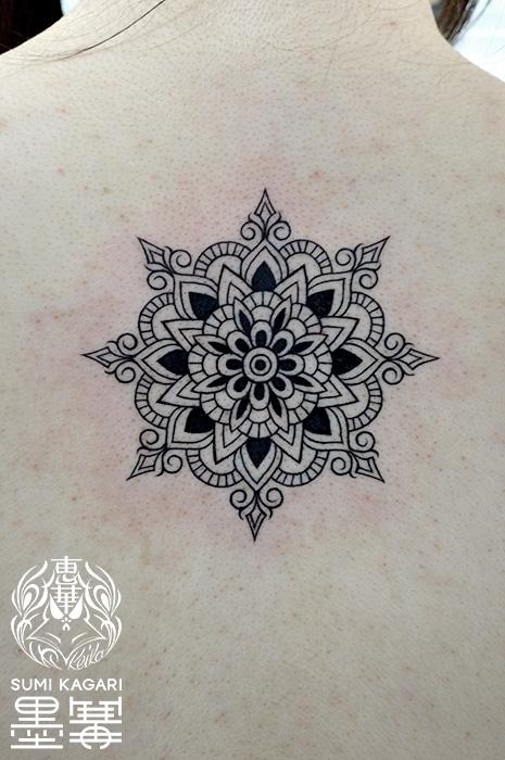 曼荼羅,Mandala,トライバル,タトゥー,刺青,Tattoo,刺青,タトゥースタジオ,女性彫師,彫師,恵華,Keika