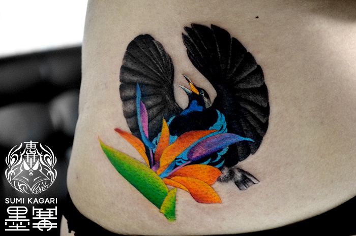鳥,コウロコフウチョウ,タトゥー,刺青,Tattoo,刺青,タトゥースタジオ,女性彫師,彫師,恵華,Keika