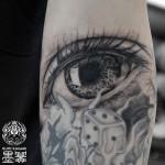 リアルな目のタトゥー,Eye,Tattoo,刺青,タトゥースタジオ,女性彫師,恵華,Keika