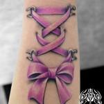 リボンのタトゥー,ribbon,Tattoo,刺青,タトゥースタジオ,女性彫師,恵華,Keika
