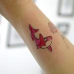シャチのワンポイントタトゥー,Orca SmallTattoo, Tattoo,刺青,タトゥースタジオ,女性彫師,恵華,Keika