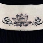 蓮とトライバルタトゥー,Lotus,Tribal,Tattoo,刺青,タトゥースタジオ,女性彫師,恵華,Keika