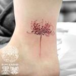 彼岸花のタトゥー,cluster amaryllis,Tattoo,刺青,タトゥースタジオ,女性彫師,恵華,Keika